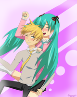 LenxMiku Having Fun After School by narusasu2009
