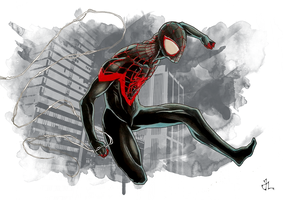 Ultimate Spider Man (Miles Morales) by aquaticpig
