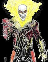 Ghost Rider the modern Jhonny Blaze comic version by danlewis4475
