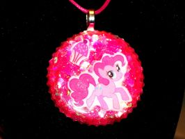 Pinkie Pie Resin Pendant by TashaAkaTachi