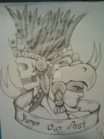Aztec warrior by pyromagma