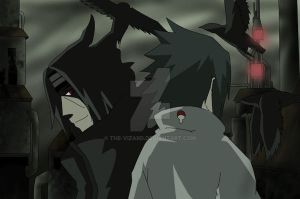 Sasuke vs Itachi .:request:. by The-vizard