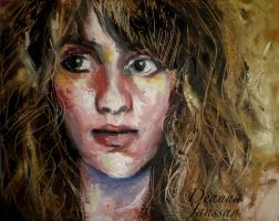 2010: Expressionistic Self portrait by QueenOfCostumes