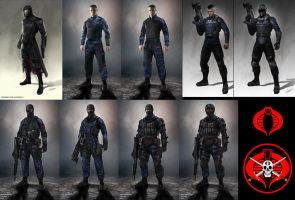 Cobra Commendar And special forces troopers by guy191184
