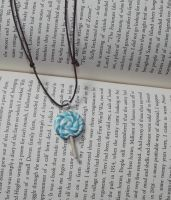 Blue lolly necklace 1 by MeticulousBlue