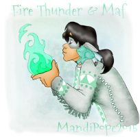 Fire Thunder Elemental: The Ethereal by MandiPope