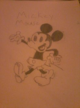 Mickey Mouse drawing ^^ by GameCubeRedPony