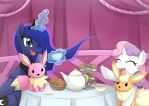 Commission Sweetie bell tea party by JinZhan