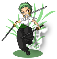Zoro Chibi - Colored by kuramachan