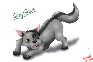 Graystripe UPDATED by SkyBlueArts