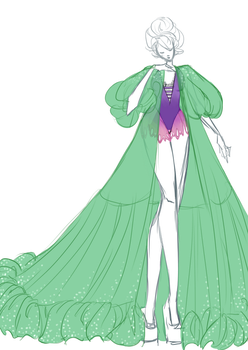 Fashion Illustration: Jellyfish overcoat by Zombie-Octopus