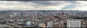 Panoramic Ankara by cheyrek