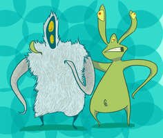 Lesser and Wooly by pdox
