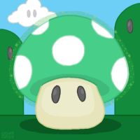 1UP Mushroom by professorhazard