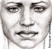 Close up sketch of woman by bearsclover