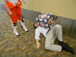 Otakon 2012 - Save me, Companion Cube! [Portal 2] by Angel1224