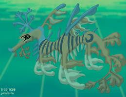 Argent Leafy Sea Dragon by JwalsShop