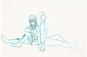 Akihiko and Toko -Rough Sketch by Dessa-Gepichu