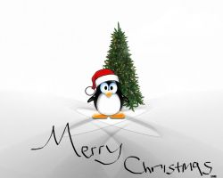 Merry Christmas Linux Ubuntu by Maxpein