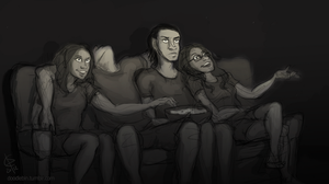 Movie Night by EsenEcho