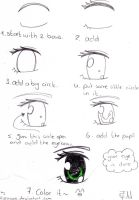 How to draw a manga eye by ryeowook