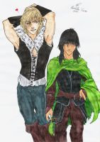Prince Jalan and Prince Jorg (Coloured) by Aucifer666