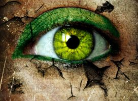 Green eye by ladiosaisis
