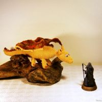 Scary Smaug :) by SuniMam