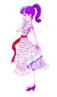 polka dot girl by poperart