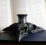 Triple Crow Skull Candle Holder by seancfinnigan