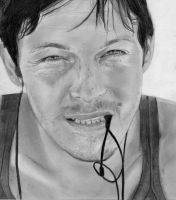 Norman Reedus Drawing by bel17b