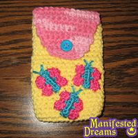 Fluttershy inspired phone pouch by ManifestedDreams