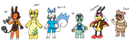 Pokettes designs test by Sixala