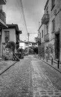 a street in Ano Poli by Fortisinprocella