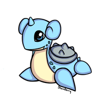 Chibi Lapras by StarxBerry