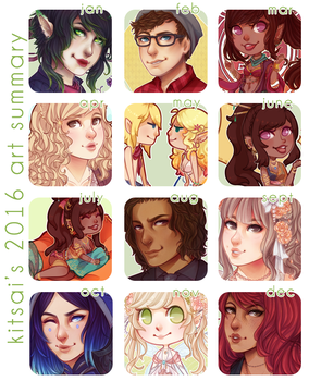 2016 art summary by Kitsai
