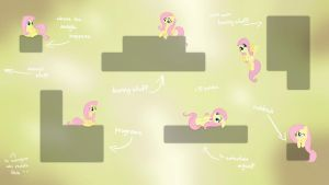 Fluttershy ''guarding'' your icons (Wallpaper) by Prollgurke