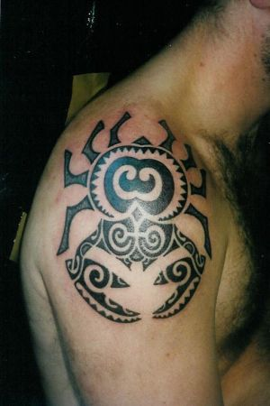 Art Shoulder Polynesian Tattoo Designs Gallery