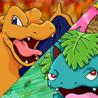 LeafGreen vs. FireRed by crayon-chewer