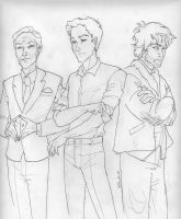 the Men of Hunger Games 2 by burdge