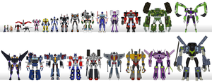 Transformers Legacy Size Chart by CyRaptor