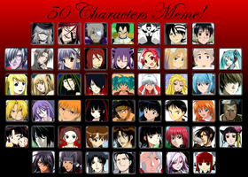 50 Characters Meme by tabbycat1212