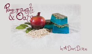 pomegranate oat soap by ADarkDezine