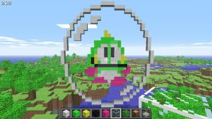 Bub in a bubble (arcade) in Minecraft by superslinger2007