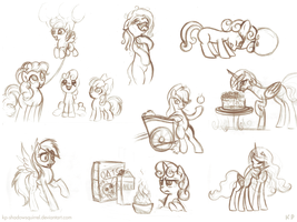 Random Pony Sketches 1 by KP-ShadowSquirrel