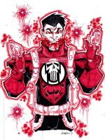 Red Lantern Punisher by misfitcorner
