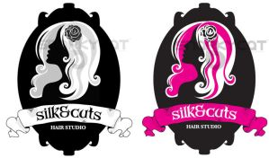 Silk n Cuts Hair Studio logo by Snarkycat