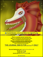 Commission Journal Skin for IgnoTung by BrightenYourSmile
