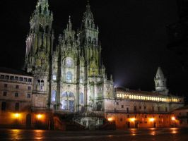 Cathedral by night by Alkemya