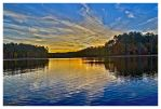 Lake Sunset HDR by evaPM